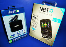 BRAND NEW Samsung S380C (Net 10) Cellular Phone + Justin 2,000mAh Power Bank