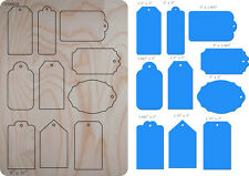 Blue Tags Wooden Die Fits Big shot Pro, Sizzix New i12 VP00889