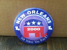 60 Republican Party 2000 campaign buttons for the convention in one lot