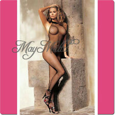 New Black Sexy Neck Lace Fishnet Lingerie Nets Body Stocking Clothing Sales Z っ