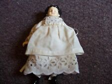 vintage ceramic and bean bag rag doll clothes are really old maker not known
