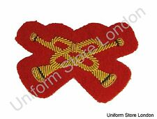 Crossed Trumpets for Mess Dress Gold Cross Trumpets On Red  2 1/4 Inch R1530