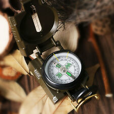 Professional Pocket Military Army Green Lensatic Compass Outdoor Hiking Camping