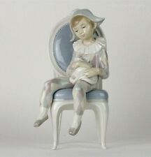 "Lladro ""Young Harlequin Boy On Chair With Cat"" #1229"