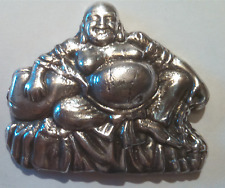 8 oz .999 fine silver PBB Buddha bar  (hand poured) patina