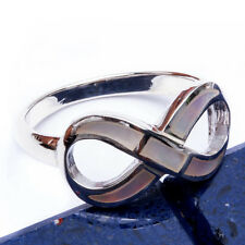 NEW! INFINITY RING 6 COLORS TO CHOOSE FROM  .925 Sterling Silver Ring SIZES 6-9