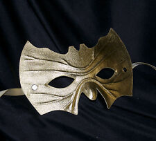 Gold Bat Shape Mask Super Hero Fancy Dress Masquerade Man Halloween Fancy Dress