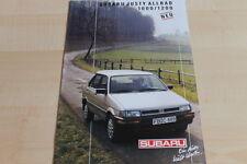 113058) Subaru Justy 1000 + 1200 4WD Prospekt 198?