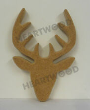 STAG HEAD SHAPE MDF (155mm x 18mm thick)/WOODEN CRAFT SHAPE/DECORATION