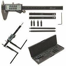 "iGaging Digital Caliper EzCal 6"" and Brake Drum/Rotor Gauge Jaw Attachment"