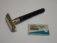 Barber Safety Razor w/5pcs Double Edge Blades EXCELLENT