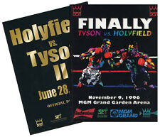 1996-7 Mike Tyson vs. Evander Holyfield I & II - Onsite Boxing Fight Programs