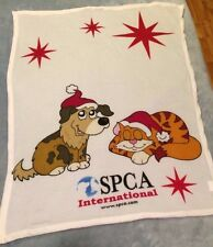 "****SPCA INTERNATIONAL CAT & DOG**** BLANKET 46"" X 32"""