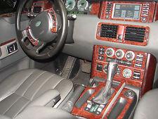 Fits Chevrolet Corvette 68-76 Wood Chrome Dash Trim Kit Woodgrain Parts