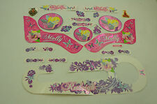 """14"""" RALEIGH MOLLY DECAL TRANSFER SET,STICKER PACK SUIT GIRLIE BIKES WTFRM141"""