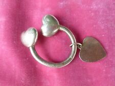 VINTAGE RARE VERSION TIFFANY & CO STERLING SILVER MULTIPLE HEARTS KEY RING