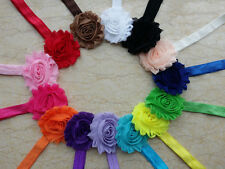 14PCS Kids Baby Girl Toddlers Flower Elastic Headband Hair Bows Band mix color