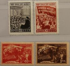 RUSSIA SOWJETUNION 1950 1507-10 1504-07 2nd Allunion Conf. Peace on Earth MNH