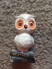 "Nice collectible owl figure statue Weather Owl Cute! 3"" tall"