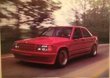 Mercedes Benz 190E AMG 145hp Wide Body Out of Print Car Poster