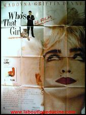 WHO'S THAT GIRL Affiche Cinéma / Movie Poster MADONNA 160x120