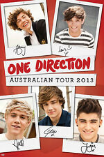 One Direction - Australian Tour 2013 Polaroids POSTER 60x90cm NEW * 1D Boy Band