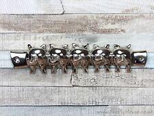 LOOK argento in metallo maiale Gancio Chiave Chiave Rack 5 CODINO arricciato GANCI MONTATO A PARETE