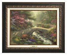 Thomas Kinkade - Bridge of Faith – Canvas Classic (Aged Bronze Frame)
