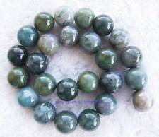 """16mm Army Green Smooth Round Agate Gemstone Beads15"""""""