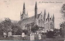 "OLD POSTCARD, "" ST, NICHOLAS CHURCH, YARMOUTH """