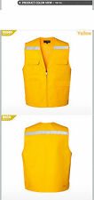 Mens Safety Work Vest Sleeveless Travel Work Fishing Hunting Hi Vis Waistcoats
