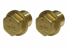 1/4 Inch Brass Flanged Plugs | ¼″ BSP - British Standard Pipe Thread | 2 Pack