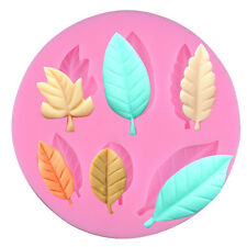 Tree Leaves Silicone Cake Decorating Mould Candy Cookies Chocolate Baking Mold