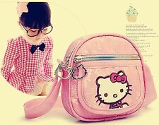 Girls Kids Children Lovely Travel Pink Hello Kitty School Cross body Satchel Bag