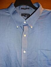 LANDS' END - BLUE - SUPIMA NO IRON OXFORD LS SHIRT - MENS 20/35 BIG FIT