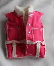 Barbie doll white & pink sleeveless vest pockets NICE cute clothes shirt