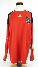 Adidas Deutscher Fussball Bund Soccer Jersey XL Red Black Padded Elbows