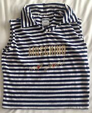 Moschino Rare 1990s Vintage Striped Top Cropped Top Size 8-10