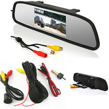 Car SUV Reverse Backup IR Night Vision HD Camera+Rearview Mirror Display Monitor