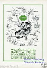 Brauerei Wicküler Küpper Wuppertal Reklame von 1953 Bier beer brewery Werbung ad