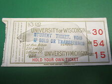 Michigan vs. Wisconsin 1928 Football Ticket Stub- RARE!