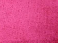 MARSON HERCULES VELVET FUCHSIA PINK PLAIN CURTAIN UPHOLSTERY FURNISHING FABRIC