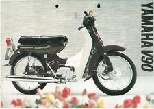 YAMAHA MOTORCYCLE MOPED V90 BROCHURE BX104 -MOTOR BIKE