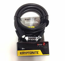 KRYPTONITE KRYPTOFLEX 1218 RESETTABLE COMBO COMBINATION BIKE BICYCLE CABLE LOCK