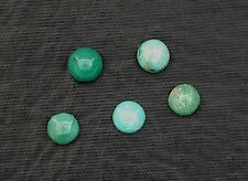 TWO 4mm Round Natural Turquoise Cab Cabochon Gem Stone Gemstone ebs3954