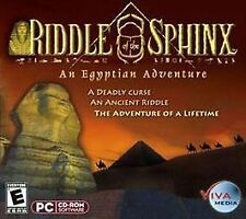 Riddle the  Sphinx - An Egyptian Adventure (PC, 2000) Win 95/98/ME/MAC, 3 disc