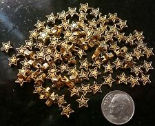 100 Yellow gold plated 7mm star shaped spacer beads create earrings beads fpb179