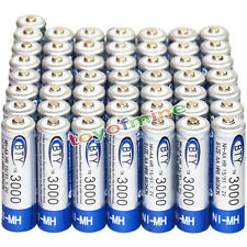 50x AA battery batteries Bulk Nickel Hydride Rechargeable NI-MH 3000mAh 1.2V BTY
