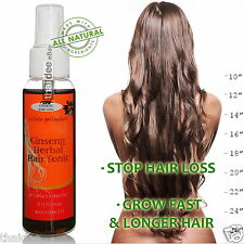 GINSENG TONIC FAST HAIR GROWTH Herbal Serum - Anti Hair Loss - Promote Regrowth