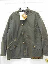 Men's XXL BARBOUR Prestbury Waxed Cotton Jacket Quilted Lining Leather Trim